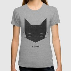 MEOW Womens Fitted Tee Athletic Grey MEDIUM