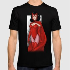 Scarlet Witch Mens Fitted Tee Black SMALL