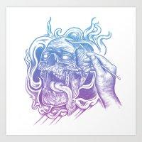 Painted Skull Art Print