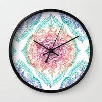 Indian Ink - Rainbow version Wall Clock