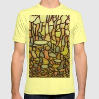 Stained Glass Mens Fitted Tee Lemon SMALL