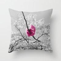 Sakura Blossom Throw Pillow