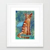 I is a Shark Framed Art Print