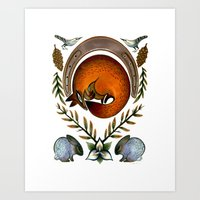 The Fox Lay Dying Art Print