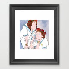 Avoid each other Framed Art Print