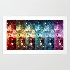 Rainbow Nebula Panel Art : Monkey Head Nebula Art Print