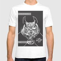 Owl Or Not Mens Fitted Tee White SMALL