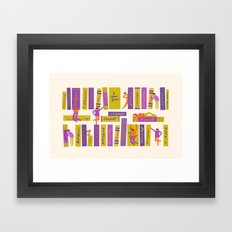 Writers and readers (1st version) Framed Art Print