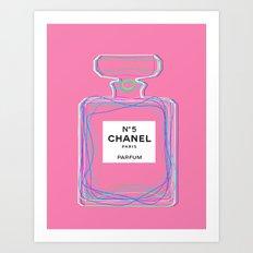 no5 pink Art Print