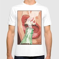 Lips and soda Mens Fitted Tee White SMALL