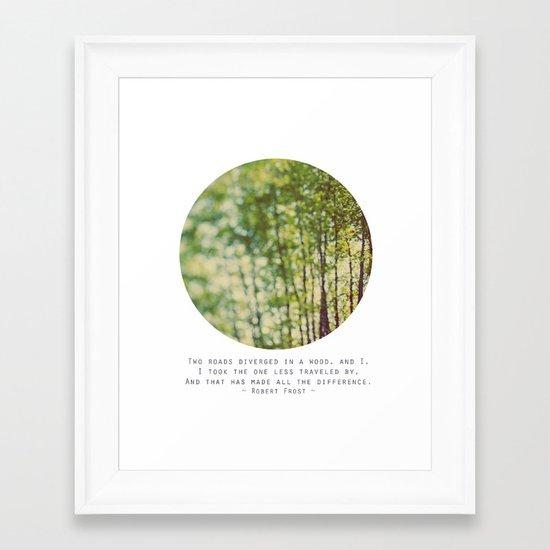 Two Roads Framed Art Print