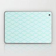 Wave Tiffany Blue Laptop & iPad Skin