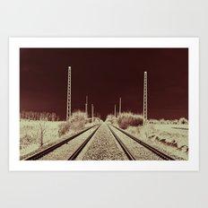 Dawn of the Rails Art Print