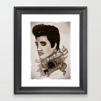 The King Of Rock 'n' Rol… Framed Art Print