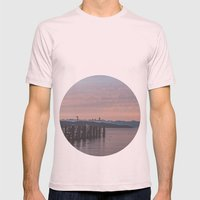 Starnbergersee at dawn Mens Fitted Tee Light Pink SMALL