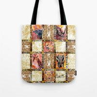 Quilted African Life. Tote Bag