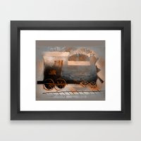 Old Train Ride Framed Art Print