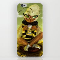 Bug Girls: Bee snack break iPhone & iPod Skin