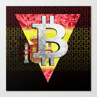 Bitcoin Spain Canvas Print