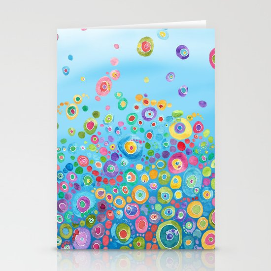 Inner Circle - Blue Stationery Card