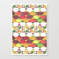 Apples Pattern Canvas Print