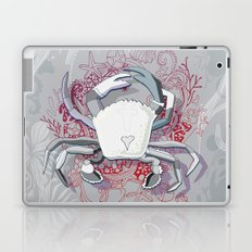 Crab tangling, simple grey Laptop & iPad Skin