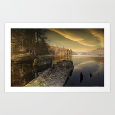 Towards Howden Dam Art Print
