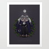 Sous La Lumière De La Lune Art Print