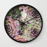 Hens and Chicks Wall Clock