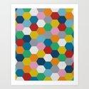 Honeycomb 2 Art Print