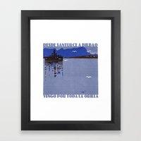 Desde Santurce a Bilbao Framed Art Print