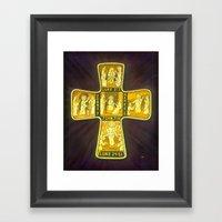 His Life Cross Framed Art Print