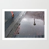 Dublin puddle Art Print