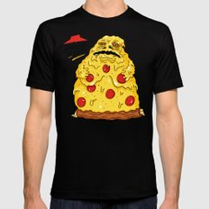 Pizza The Hutt Mens Fitted Tee Black SMALL