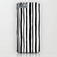 Into the Woods Stripes black iPhone 6 Slim Case