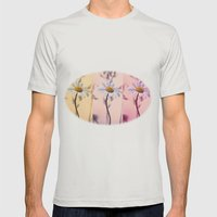 Trio Daisies Mens Fitted Tee Silver SMALL