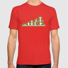Lego Evolution  Mens Fitted Tee Red SMALL