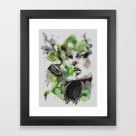 Framed Art Print featuring Kiss By Carographic by Carographic Watercol…