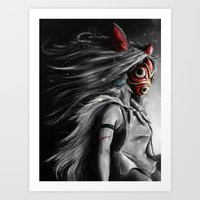 Miyazaki's Mononoke Hime… Art Print