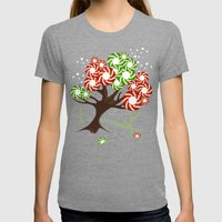 Magic Candy Tree - V2 Womens Fitted Tee Tri-Grey SMALL