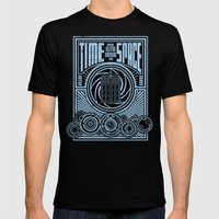 Time And Space Mens Fitted Tee Black SMALL