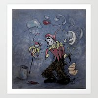 Night Clown Art Print