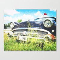 Cherries and Berries {Historic Cop Car} 1950's Buick  Canvas Print