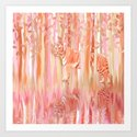 Tiger in the Trees - Painting / Collage Art Print