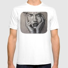 The Glutton (VIDEO in description!!) Mens Fitted Tee SMALL White