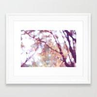 Glitter In The Air Framed Art Print