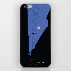 Moon lines iPhone & iPod Skin
