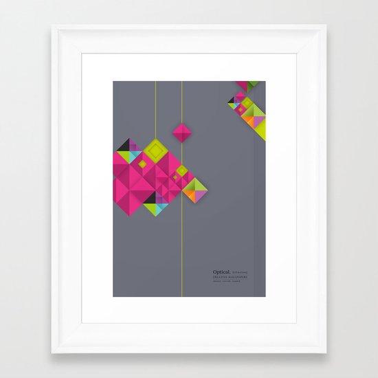 Optical illusion_grey Framed Art Print