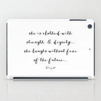 SHE IS - B & W iPad Case