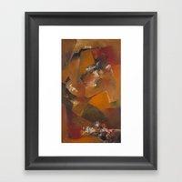 Facetas en Bronce Framed Art Print